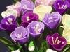 Wiosenne kwiaty w koszu - kwiaty z bibuły