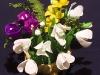 Wiosenny koszyk - kwiaty z bibuły