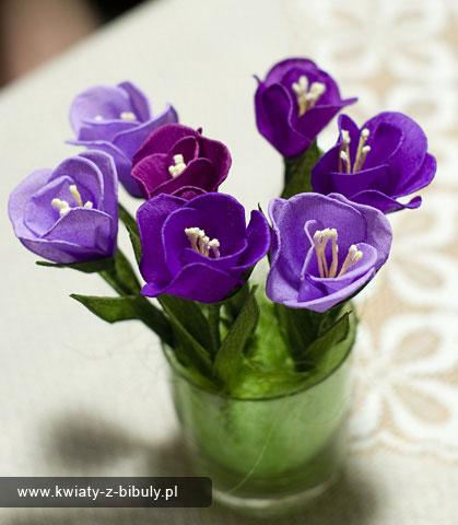 Цветы из гофрированной бумаги крокусы