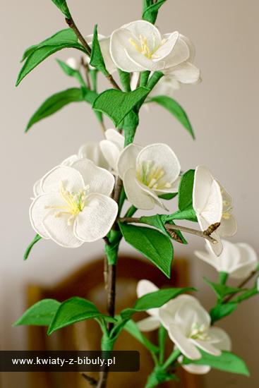 Gałązka z kwiatami wiśni - instrukcja wykonania