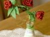 Róża czerwona 2 - kwiaty z bibuły