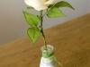 Róża biała 1 - kwiaty z bibuły
