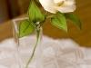 Róża biała 2 - kwiaty z bibuły