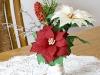 Poinsecje - kwiaty z bibuły